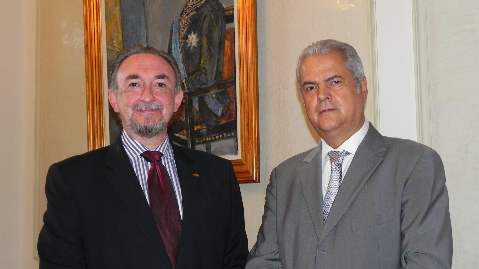 E.S. dl. Pande Lazarevski, ambasadorul Republicii Macedonia la Bucureşti, în vizită la Fundaţia Europeană Titulescu