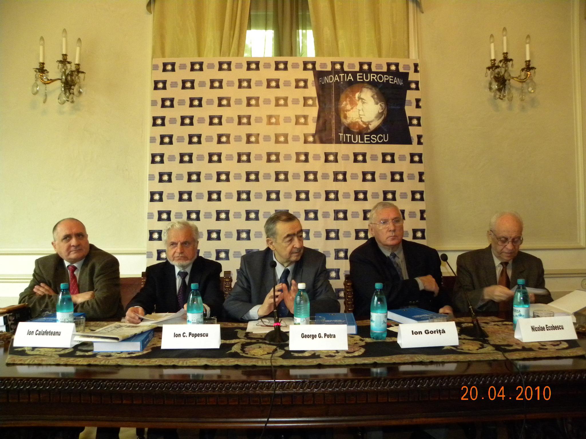 """Lansarea volumului """"Romania – member of the United Nations Security Council"""" de Ion C. Popescu"""