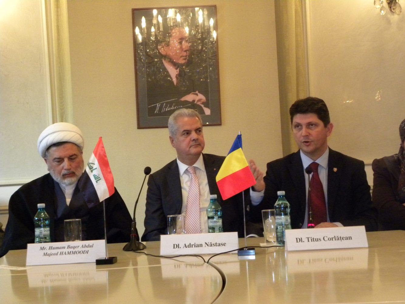 Masa rotundă prilejuită de vizita, în România, a delegaţiei Comisiei pentru politică externă din Parlamentul Republicii Irak