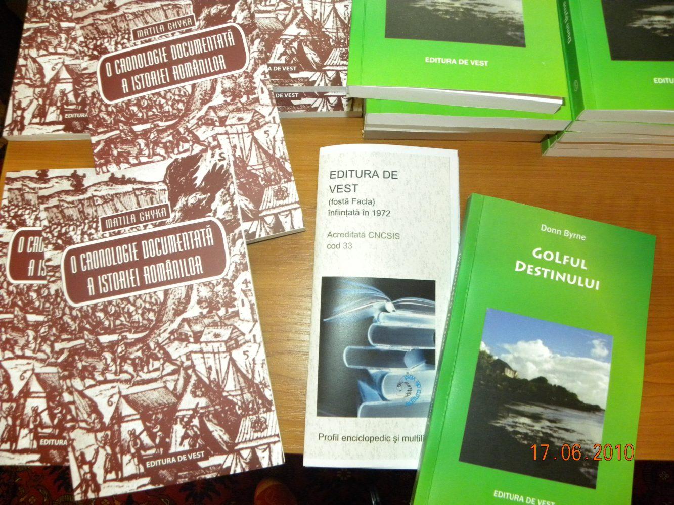 """Lansarea lucrării """"O cronologie documentată a istoriei românilor"""" de Matila Ghyka"""