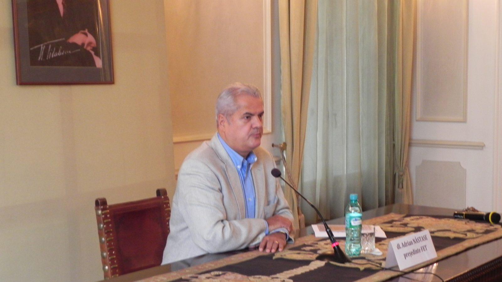Prelegere susţinută de dl. Adrian Năstase, preşedintele FET, despre politică externă, diplomație și interes național