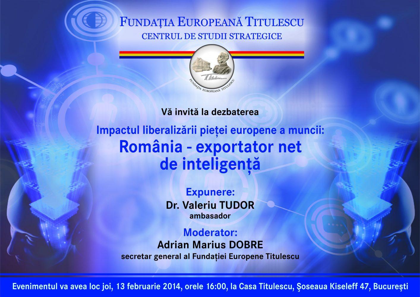 Impactul liberalizării pieţei europene a muncii: România – exportator net de inteligenţă