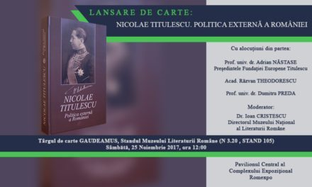 Nicolae Titulescu. Politica Externă a României