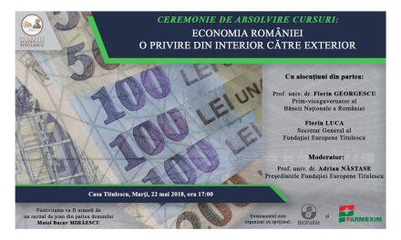 "Ceremonia de absolvire a cursurilor: ""Economia României – O privire din interior către exterior"""