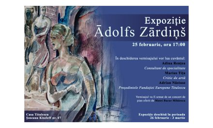 Vernisaj Ādolfs Zārdiņš la Fundația Europeană Titulescu
