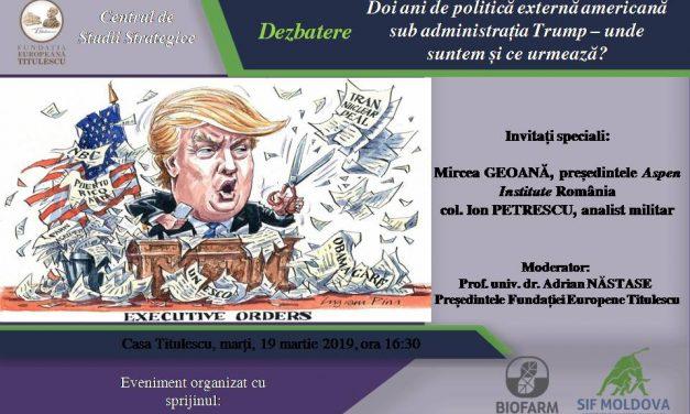 Doi ani de politică externă americană sub administrația Trump – unde suntem și ce urmează?