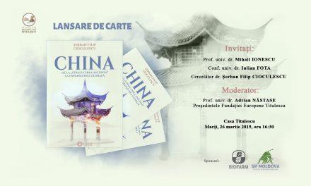 """Lansare de carte: China. De la """"strălucirea ascunsă"""" la expansiunea globală"""