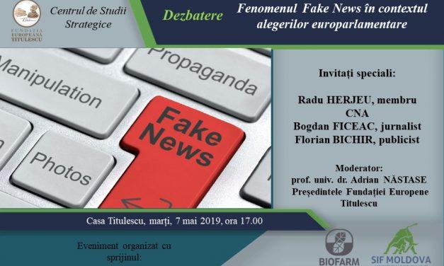 Fenomenul Fake News în contextul alegerilor europarlamentare