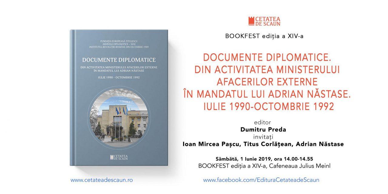 Lansare de carte: Documente diplomatice. Din activitatea Ministerului Afacerilor Externe în mandatul lui Adrian Năstase. Iulie 1990-octombrie 1992
