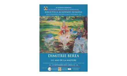 DIMITRIE BEREA. 111 ANI DE LA NAȘTERE