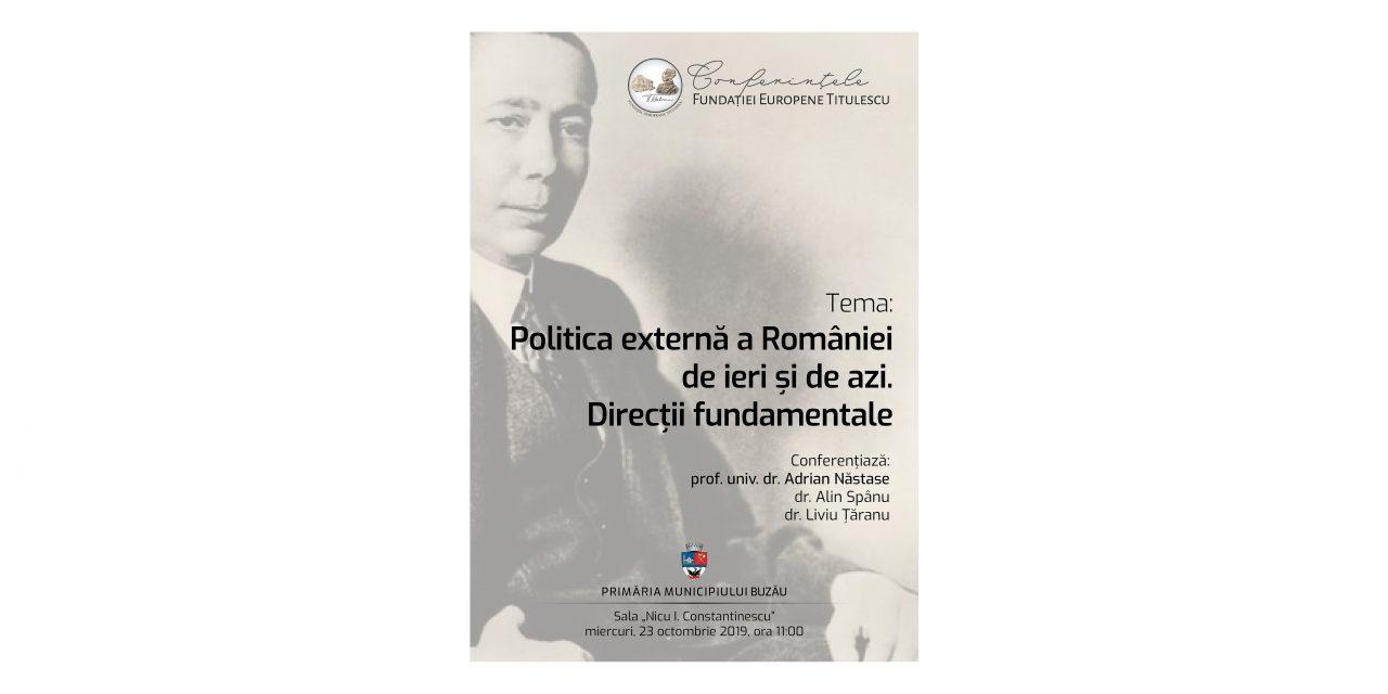 Conferințele Fundației Europene Titulescu – Buzău