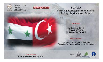 Dezbatere: Turcia. Dispută geostrategică în echilibrul de forțe după atacarea Siriei