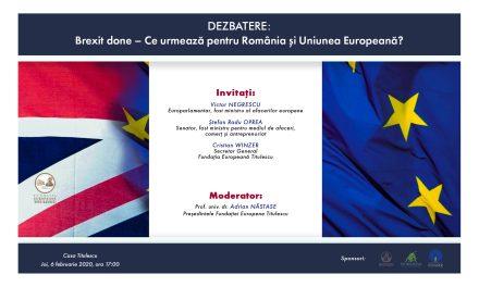 Brexit done – Ce urmează pentru România și Uniunea Europeană?