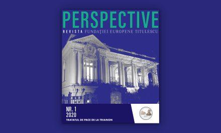 """Fundația Europeană Titulescu lansează revista """"Perspective"""""""