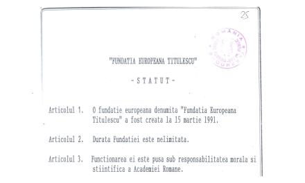 Fundația Europeană Titulescu. Anul 30